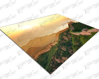 Print on Canvas landscape setting sun over the Great Wall of China X1476