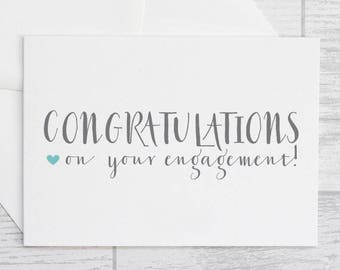 Engagement Card - Congratulations on Your Engagement Card