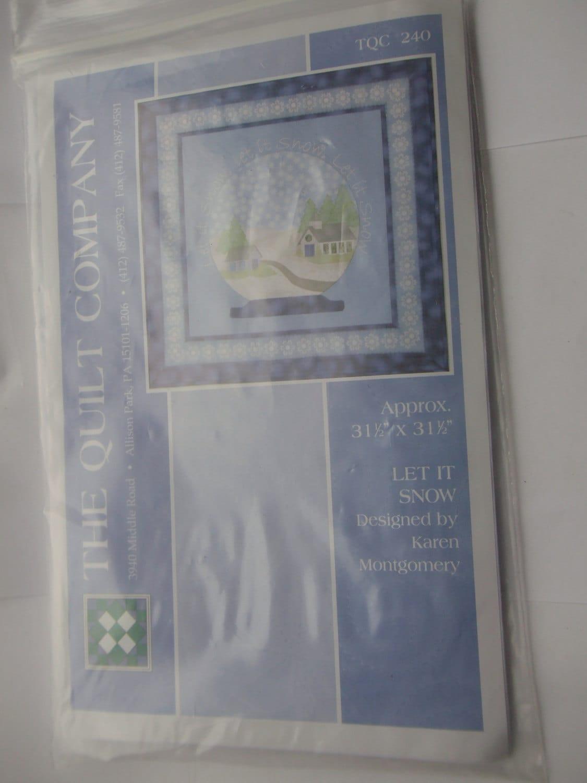 Quilt Pattern Let it Snow, The Quilt Company Pattern, Karen ... : karen montgomery quilt patterns - Adamdwight.com