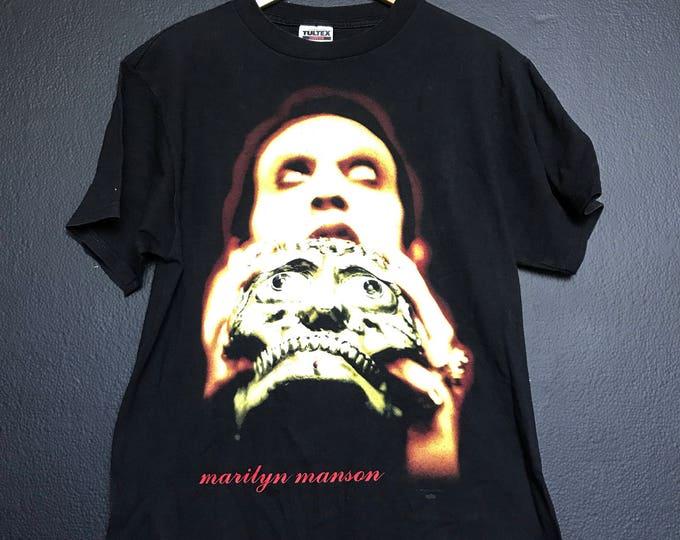 Marilyn Manson Skull Antichrist Superstar 1990s Tshirt