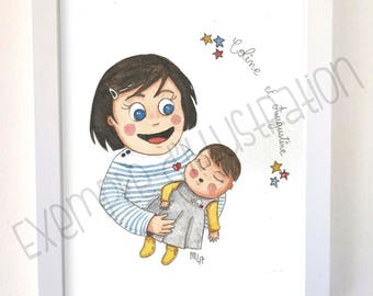PERSONALIZED children's illustration