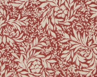 Indiki Blooms Henna Red by Robert Allen Fabric by the yard Multipurpose
