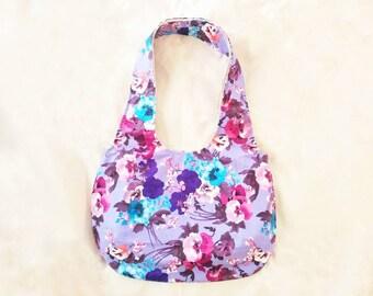 FLOWER DESIGN Shoulder Bag | Hobo Bag | Medium Size Purse | Handbag | for Craft Show