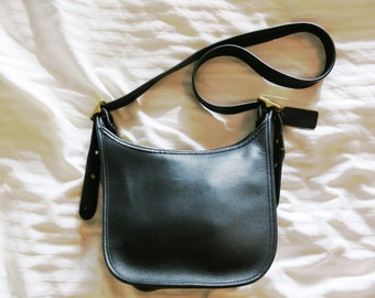 Black Leather Coach Crossbody Bag