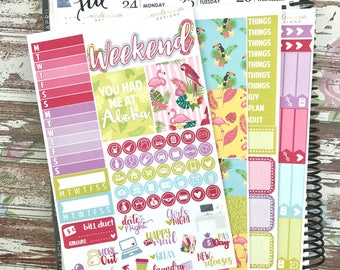 Tropical Mini Kit, planner stickers