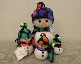 Felted Wool Snowman