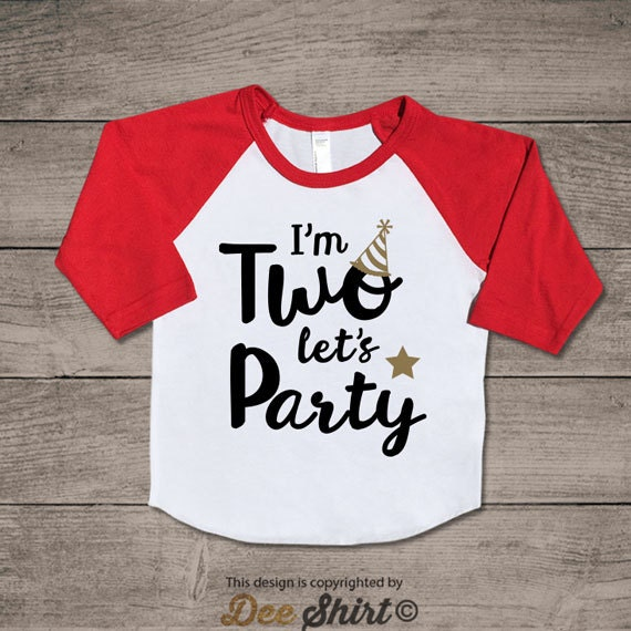 Second birthday t-shirt; 2nd birthday shirt; kids b-day tee; 2 year old infant newborn outfit; two let's party; birthday gifts for boy girl