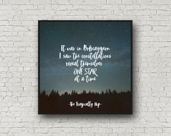 The Tragically Hip, fine print, Tragically Hip quote, Gord Downie, Bobcaygeon, Square Print
