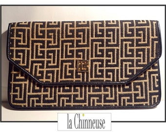 PIERRE BALMAIN wallet / french Vintage Pierre Balmain wallet bag / pouch wallet Pierre Balmain 70'.
