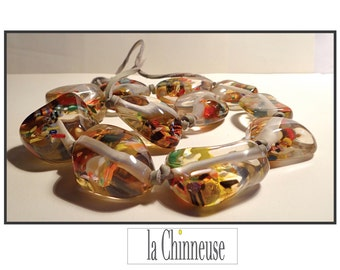 CARLOS SOBRAL resin NECKLACE / chunky necklace resin Carlos Sobral /Resin necklace Carlos Sobral.
