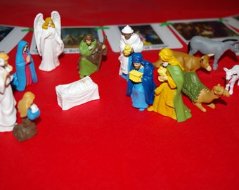 Nativity Montessori cards and Safari Nativity Super Toob--Montessori Christmas for Preschoolers