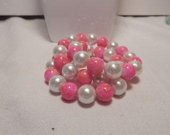 Memoir wire Bracelet 2 & 1\2 spiral Pearl style Bracelet