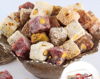 Double Roasted Mixed Pistachio Turkish Delight (250/500 grams optional)
