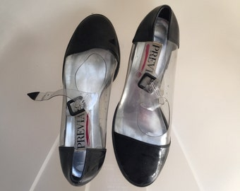 Vintage clear Mary Janes! Size 7 transparent 90s riot girl Courtney Love