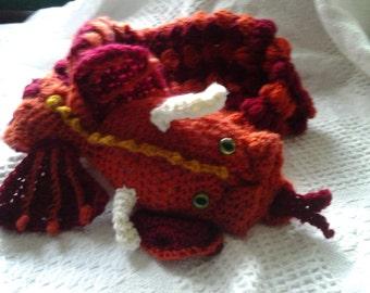 Dragon neck warmer/ scarf