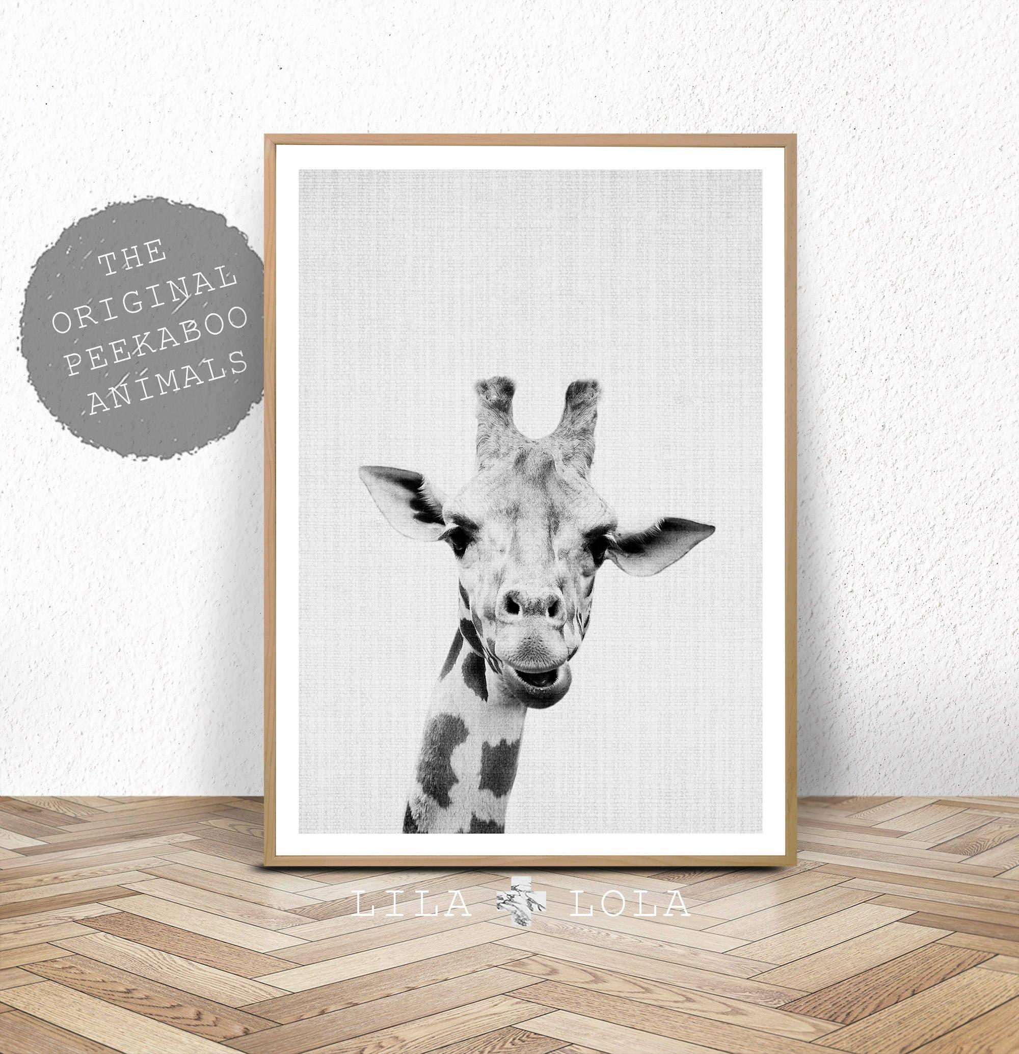 Giraffe print safari nursery wall art decor large printable zoom amipublicfo Gallery