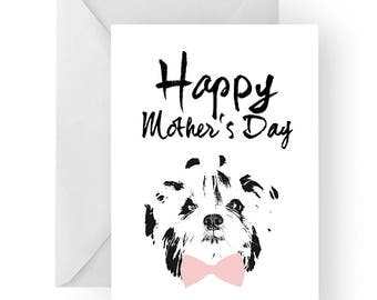 Shih-tzu Mother's Day card- dog Mother's Day card, dog card, Mother's Day card, cute shih-tzu card, shih-tzu card