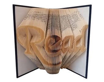 READ - Folded Book Art - FREE SHIPPING - Book Sculpture - Book Fold - Book Lover - Library Art - Home Decorations
