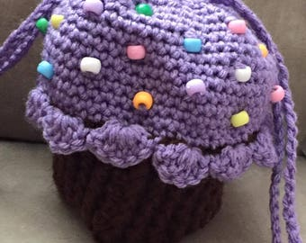 Cupcake Purse - Cupcake Party Bag - Cupcake Bag - Girls Purse - Crochet Cupcake - Cupcake Party Favor - Gifts for Her -