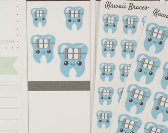 Braces/Orthodontist/Orthdontics Icon Planner Stickers (NF514) High Gloss, Semi-Gloss, Matte Planner Stickers