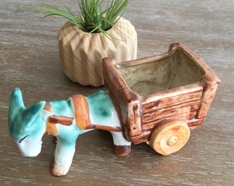 Vintage Donkey Small  Planter