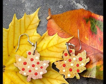 Truly Canadian Maple Leaf Earrings