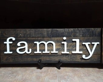 Family Sign,  Rustic Decor, Farmhouse Decor, Rustic Wood Sign, Rustic Shutter, Family Decor,  Reclaimed Wood Sign, Wooden Sign,  Shutters