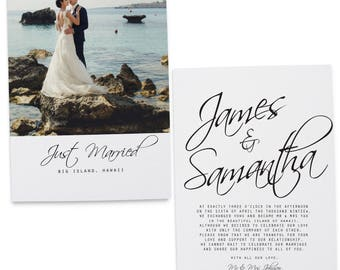 Elopement Announcement Cards Wedding Printed And Printable 98