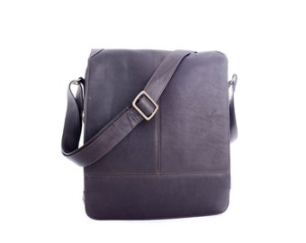 Genuine Vaqueta Leather Messenger Bag Hand-crafted in Colombia