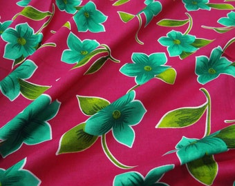 Apparel Fabric Material Cotton Fabric For Sewing Designer 41 Wide Pink Floral Printed Cotton Sewing Dress Thick Fabric By The Yard ZBC6147