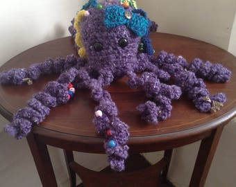 Activity Touch & Feel-Me LARGE crocheted Octopus