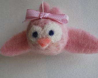 Mobilaria Baby Pink Bird Needle Felting Kit from De Witte Engel