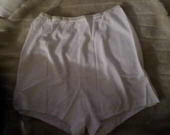 Pin up Panties silk pantie shorts vintage Sears NWOTS Size 7  Womens hips white Blue package sissy 60's