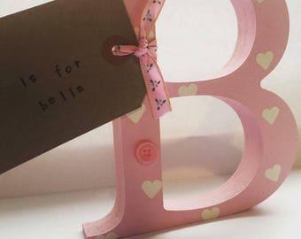 Freestanding wooden letters