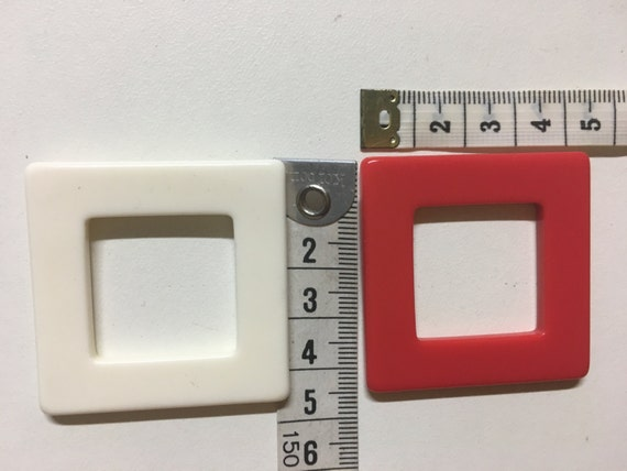 HIGH density plastic SQUARE BUCKLE (4.5cm x 4.5cm) for swimsuit/fashion garments