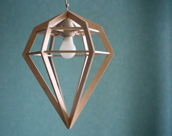 Wooden lamp - retro lamp - wooden decor - decor - home decor - wood - wood art