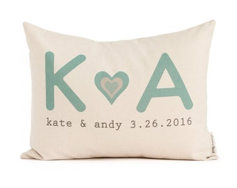Gift for Her, Custom Pillow, 2nd Anniversary Gift, Cotton Anniversary, Gift for Her, Gift for Him, Throw Pillows, Home Decor