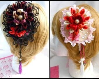 Tsumami Flower Corsage Headband