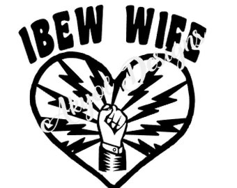 Wife with heart and Fist