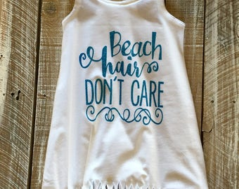 Beach Hair Don't Care Fringe Tank