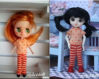 """style4doll blouse & leggings for Amelia Thimble and Blythe LPS 4 4/8"""""""