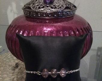 "Bracelet ""Trio"" Crystal pink"