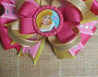 Sleeping Beauty Aurora Hair Bow, sleeping beauty birthday, aurora hair,Princess hair bow,Princess birthday,Princess dress,Sleeping Beauty