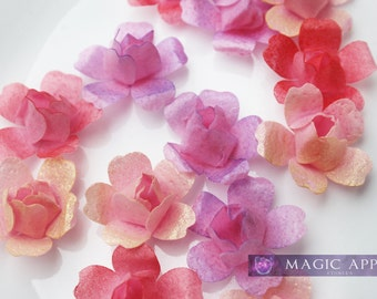 Wafer Paper Blossoms - Pink Hues - 12ct
