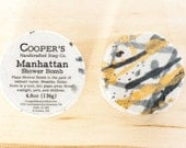Manhattan - LARGE Shower Bomb - Shower Steamer - Black Pepper, Leather, and Oakmoss Scented - Gifts for Men - Cooper's Handcrafted Soap Co.