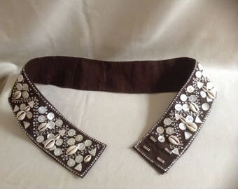 Vintage Putumayo India Cowrie Shell and Button Belt