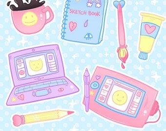 Art Life glossy stickerpack