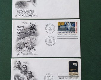 Three (3) Space First Day Of Issue Post Office Stamps