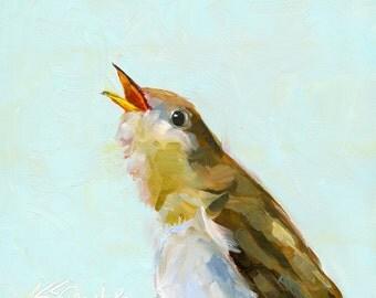 sweet song // print // wall art // giclee print // bird art // bird painting // home decor