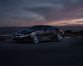 BMW i8 Front Angle View | automotive photography | automotive prints | car photography | car prints | European Car | 7 size choices
